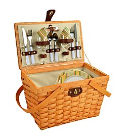 Picnic at Ascot Frisco Hamptons Honey Picnic Basket for Two