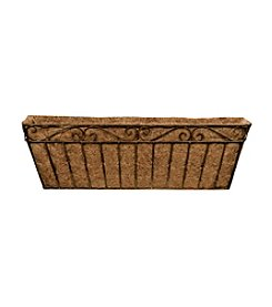 Deer Park Ironworks® Metal Imperial Window Box with Coco Liner