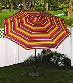 Bliss™ Hammocks 9' Sun Stripe Market Umbrella with Tilt