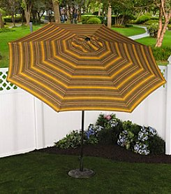 Bliss™ Hammocks 9' Calista Cabernet Stripe Market Umbrella with Tilt