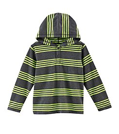 Ruff Hewn Boys' 2T-7 Long Sleeve Striped Hoodie Tee
