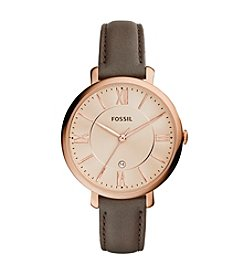 Fossil® Women's Rose Goldtone Jacqueline Watch