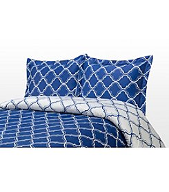 Elite Home Products 300-Thread Count Tangier 3-pc. Duvet Set