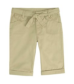 French Toast® Girls' 4-20 Sash Belt Bermuda Shorts