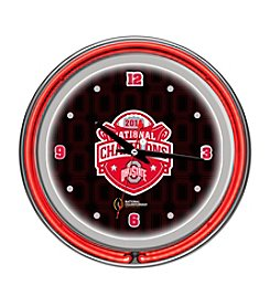 Ohio State University Trademark Home® Black Neon Clock