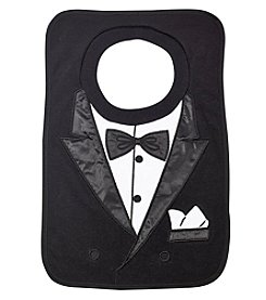 Cuddle Bear® Baby Boys Tuxedo Square Bib