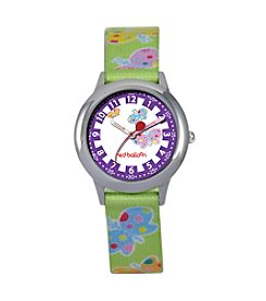 Red Balloon Girls' Stainless Steel Green Time Teacher Watch