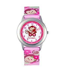 Red Balloon Pretty Girls' Monkey Stainless Steel Pink Time Teacher Watch