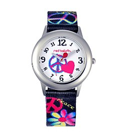 Red Balloon Peace, Love & Happiness Girls' Stainless Steel Tween Colorful Watch