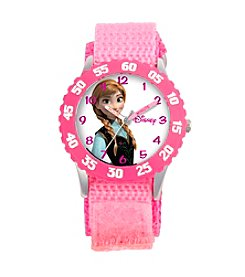 Disney® Anna Girls' Stainless Steel Pink Watch