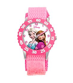 Disney® Anna, Snow Queen Elsa Girls' Stainless Steel Pink Watch