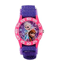 Disney® Anna & Elsa Girls' Plastic Purple Watch