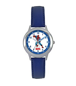 Marvel® Boys' Spider-Man Blue Time Teacher Watch