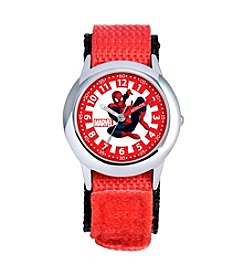 Marvel® Boys' Spider-Man Red Time Teacher Watch