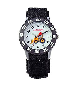 Red Balloon Boys' Construction Site Black Time Teacher Watch