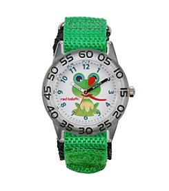Red Balloon Boys' Plastic Green Frog Time Teacher Watch