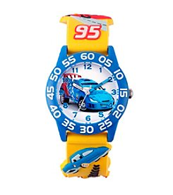 Disney® Boys' Cars 3D Plastic Yellow Time Teacher Watch