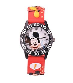 Disney® Boys' Mickey Mouse 3D Plastic Red Time Teacher Watch