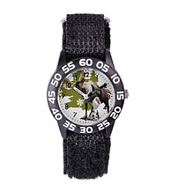 Disney® Boys' Olaf & Sven Plastic Black Time Teacher Watch