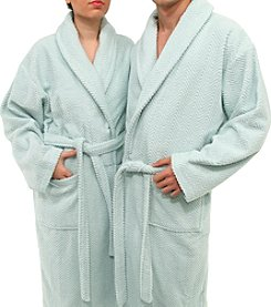 Linum Home Textiles Herringbone Weave Bathrobe