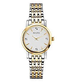 Bulova® Women's Diamond Watch In Stainless Steel