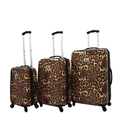 Chariot® 3-pc. Leopard ABS Luggage Set
