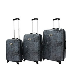 Chariot® 3-pc. Crocodile ABS Luggage Set