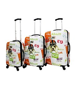 Chariot® 3-pc. Fly Dog ABS Luggage Set