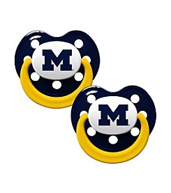 Baby Fanatic NCAA® University of Michigan 2-Pack Baby Pacifiers