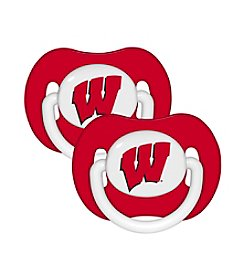 NCAA® University of Wisconsin 2-Pack Baby Pacifiers