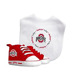 Baby Fanatic NCAA® Ohio State Baby Bib And Shoe Set