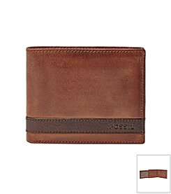 Fossil® Men's Quinn Leather Bifold with Flip ID Wallet