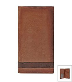 Fossil® Men's Quinn Leather Executive Checkbook Wallet