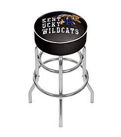NCAA® University of Kentucky Chrome Bar Stool with Swivel - Smoke