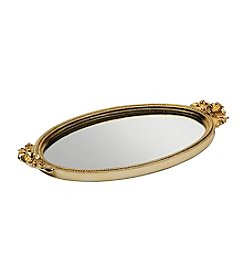 Taymor® Gold Antique Rose Mirror Tray