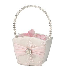 Lillian Rose® Blush Pink Flower Basket