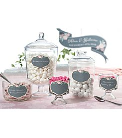 Lillian Rose® Set of 12 Black and Pink Glass Clings