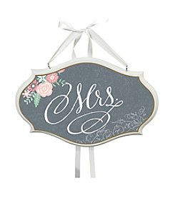 Lillian Rose® Black Mrs. Oval Sign