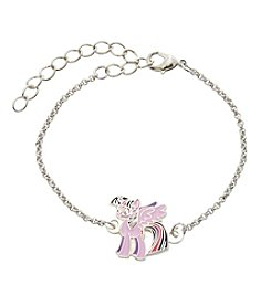 My Little Pony Silver Plated Girls' Twilight Sparkle Chain Bracelet