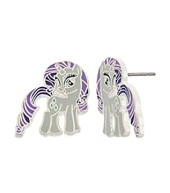My Little Pony Silver Plated Girls' Rarity Stud Earrings