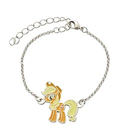 My Little Pony Silver Plated Girls' Apple Jack Chain Bracelet
