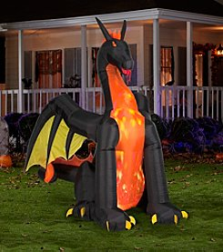 Animated Airblown® Giant Fire & Ice Dragon with Wings