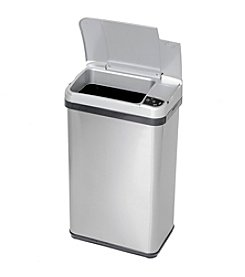 iTouchless 4-gal. Stainless Steel Silver Touchless Trash Can
