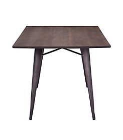 Zuo Modern Titus Rectangular Dining Table Rustic Wood