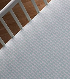 Lolli® Mint Scallop Crib Sheet