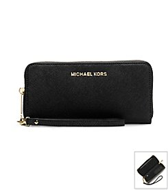 MICHAEL Michael Kors® Jet Set Travel Large Saffiano Leather Phone Wristlet