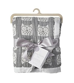 Living Textiles Baby® Muslin Jacquard Owl Blanket