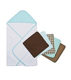 Trend Lab®  Hooded Towel and Wash Cloth Set