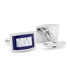 Ox & Bull Men's Lapis & Mother of Pearl Key Cufflinks
