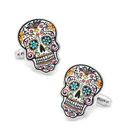 Cufflinks Inc. Men's Day of the Dead Skull Cufflinks